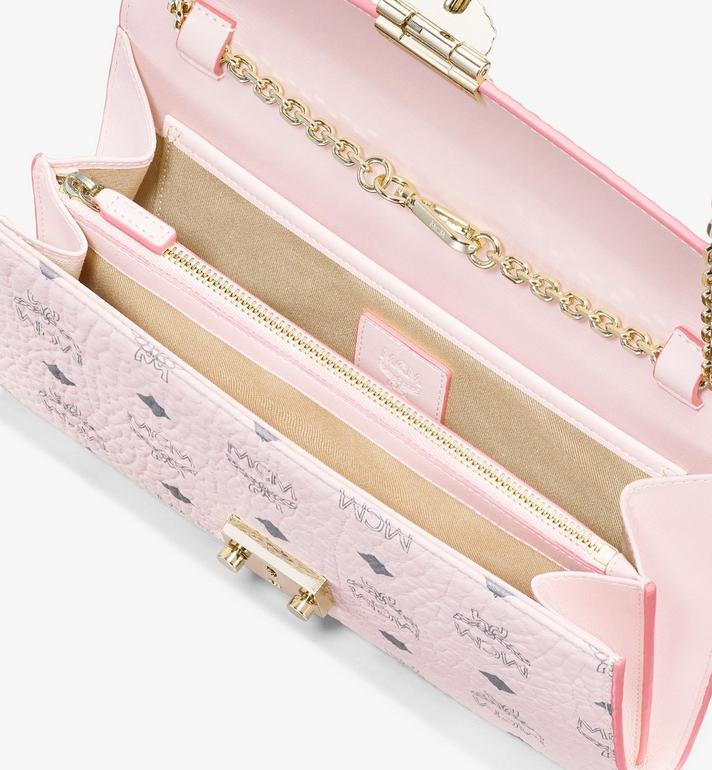 MCM Patricia Continental Crossbody Wallet in Visetos Pink MYL8APA17QH001 Alternate View 3