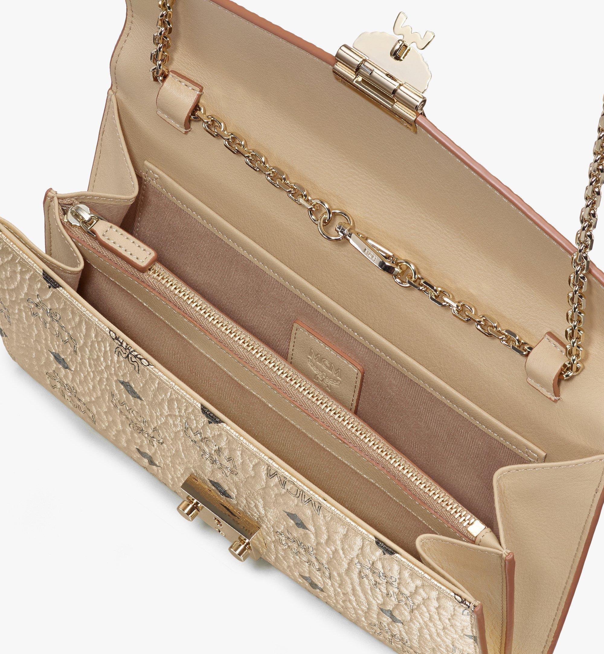 MCM Patricia Continental Crossbody Wallet in Visetos Gold MYL8APA17T1001 Alternate View 2