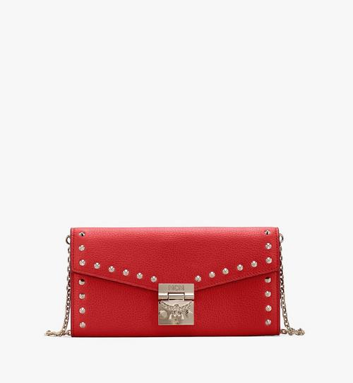 Patricia Crossbody Wallet in Studded Park Ave Leather
