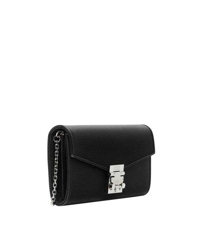 MCM Patricia Crossbody Wallet in Grained Leather Black MYL8APA41BK001 Alternate View 2