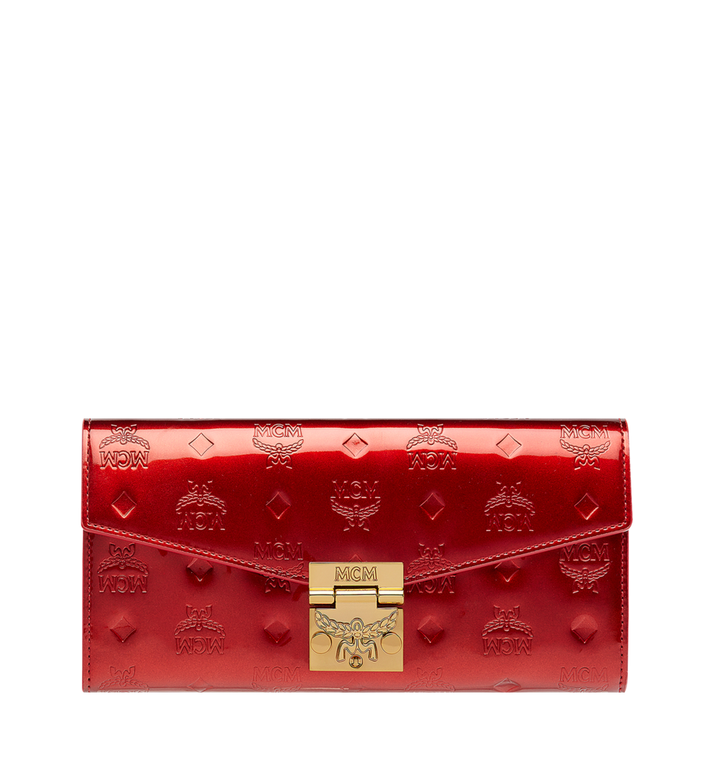 MCM Patricia Crossbody Wallet in Patent Leather MYL8APA81RU001 AlternateView