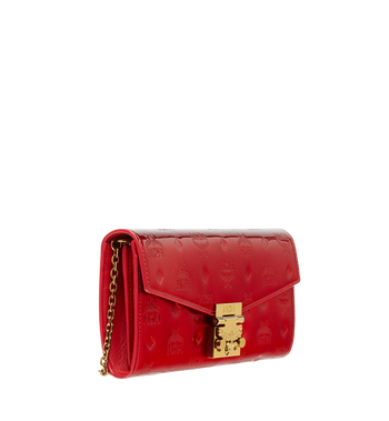 MCM Patricia Crossbody Wallet in Patent Leather MYL8APA81RU001 AlternateView2