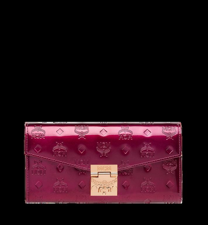 MCM Patricia Crossbody Wallet in Patent Leather MYL8APA81UK001 AlternateView