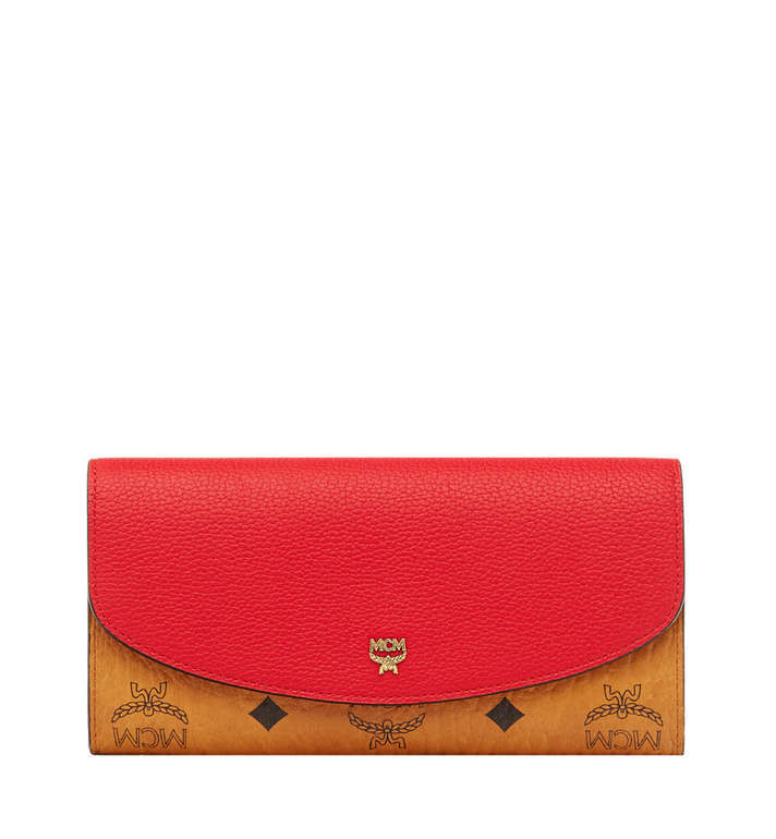 MCM Two Fold Wallet in Visetos Leather Block MYL8AVI13RU001 AlternateView