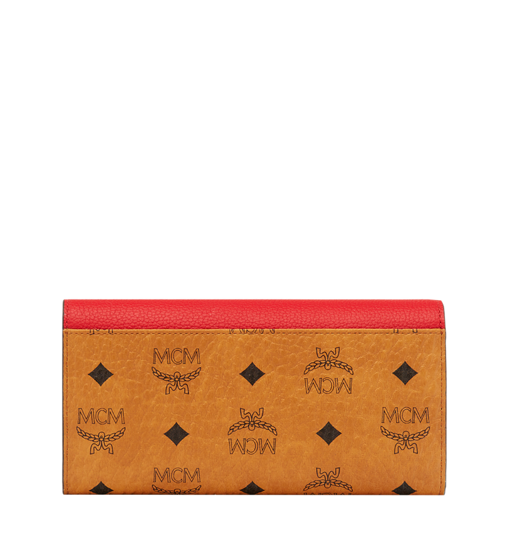 MCM Two Fold Wallet in Visetos Leather Block Alternate View 3