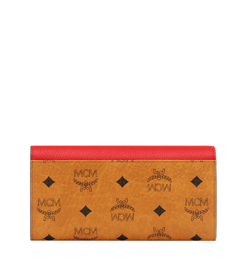 MCM Two Fold Wallet in Visetos Leather Block MYL8AVI13RU001 AlternateView3
