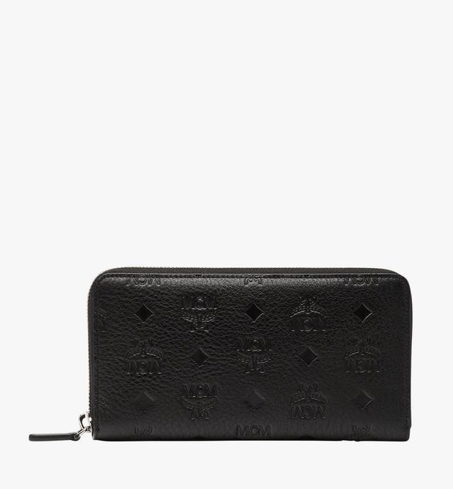 클라라 모노그램드 레더 지퍼 어라운드 지갑