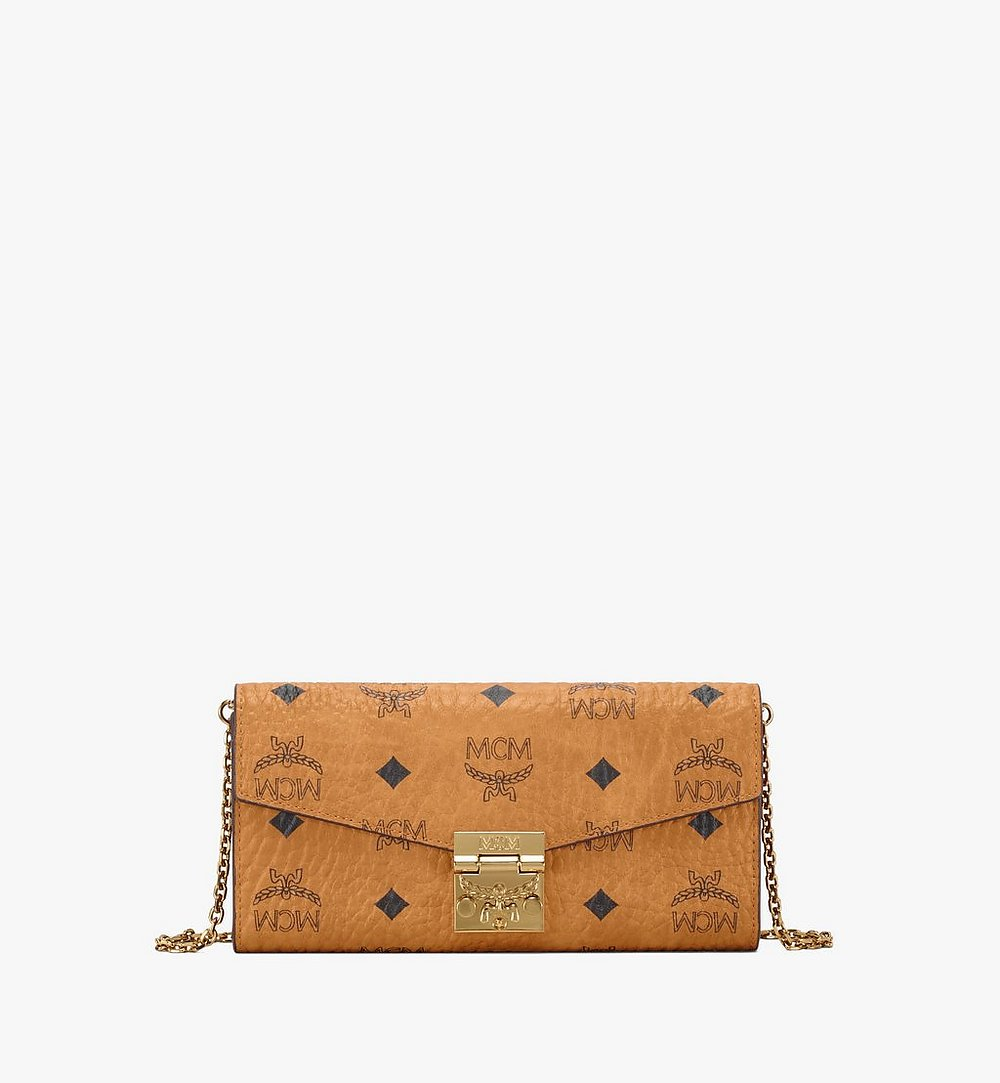 MCM Patricia Crossbody Wallet in Visetos Cognac MYL8SPA11CO001 Alternate View 1