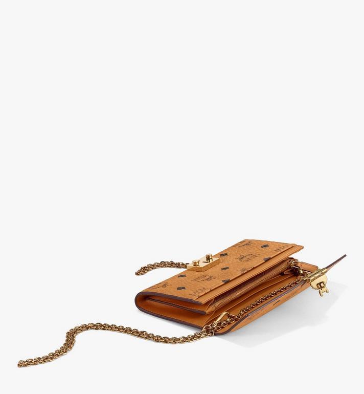 MCM Patricia gefaltete Crossbody Brieftasche in Visetos Cognac MYL8SPA11CO001 Alternate View 3