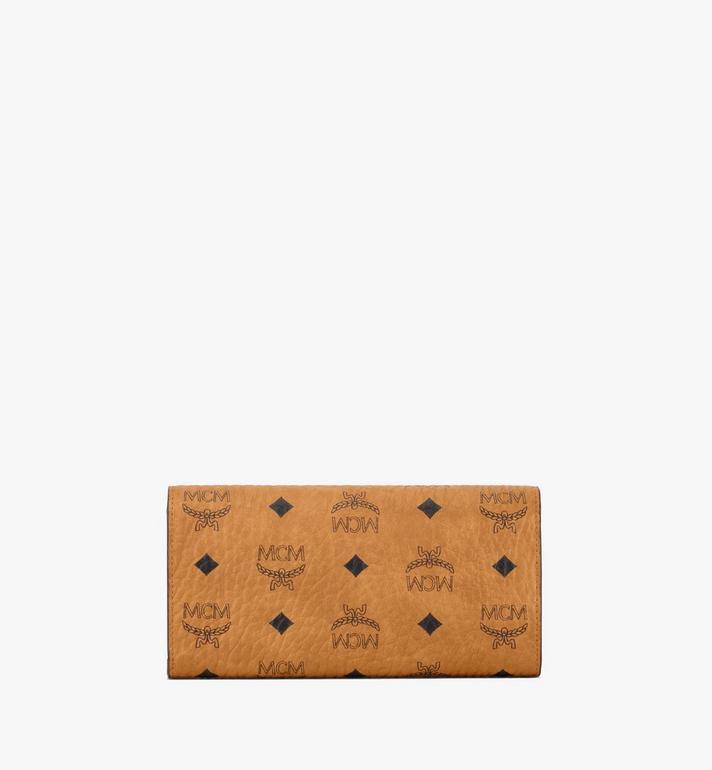 MCM Patricia gefaltete Crossbody Brieftasche in Visetos Cognac MYL8SPA11CO001 Alternate View 4