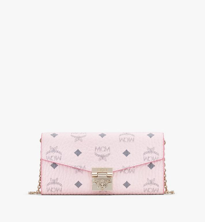 MCM Patricia Crossbody-Brieftasche in Visetos Pink MYL8SPA11QH001 Alternate View 1