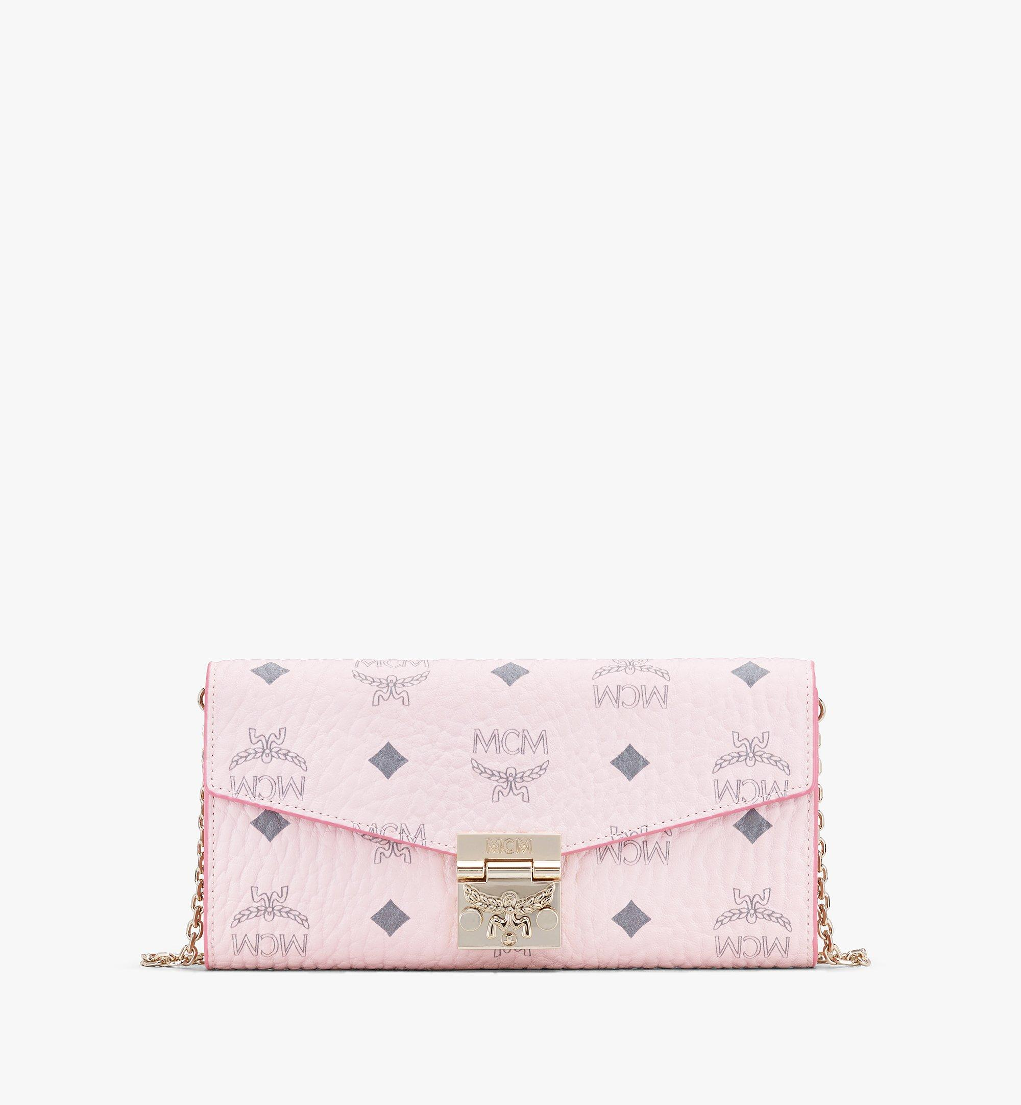MCM Patricia Crossbody Wallet in Visetos Pink MYL8SPA11QH001 Alternate View 1