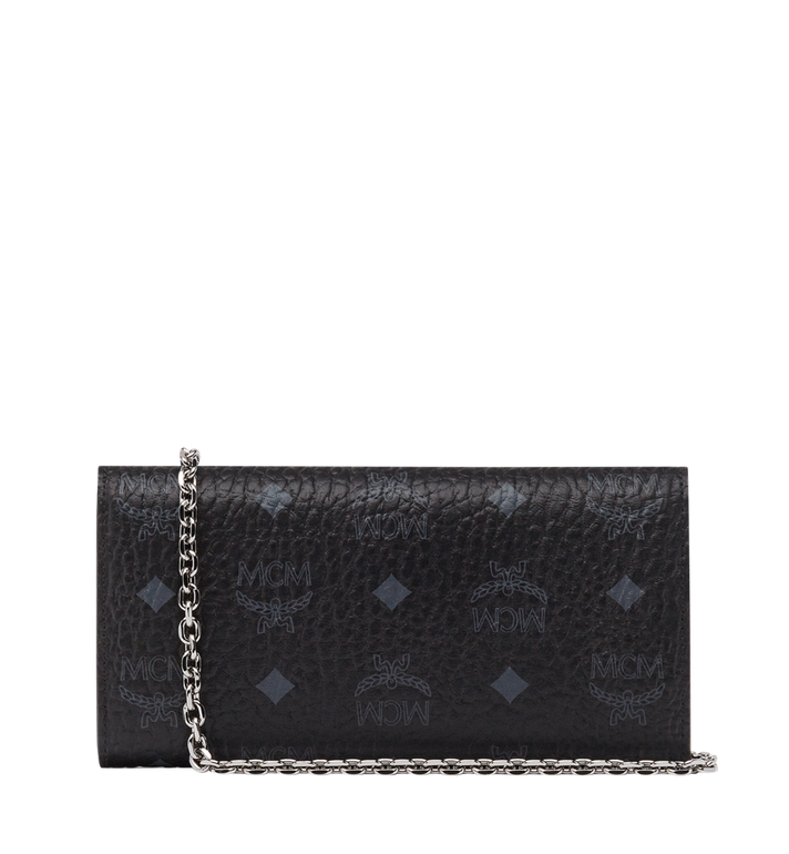 MCM Patricia Studded Crossbody Wallet in Visetos Black MYL8SPA30BK001 Alternate View 3