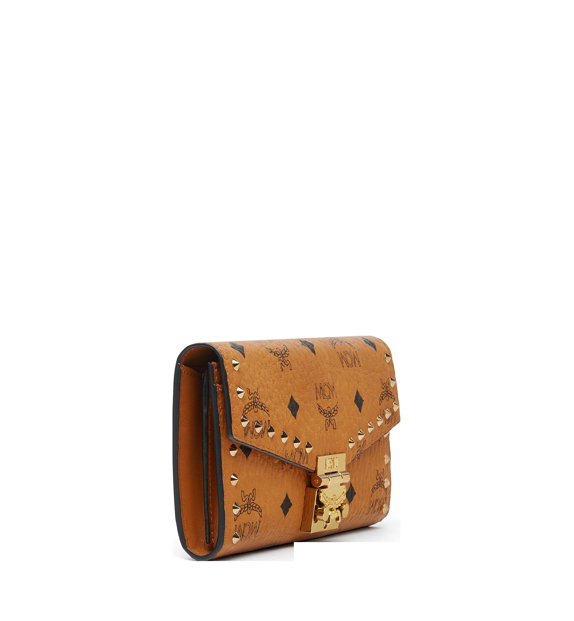 Large Gefaltete Patricia Brieftasche mit Nieten in Visetos