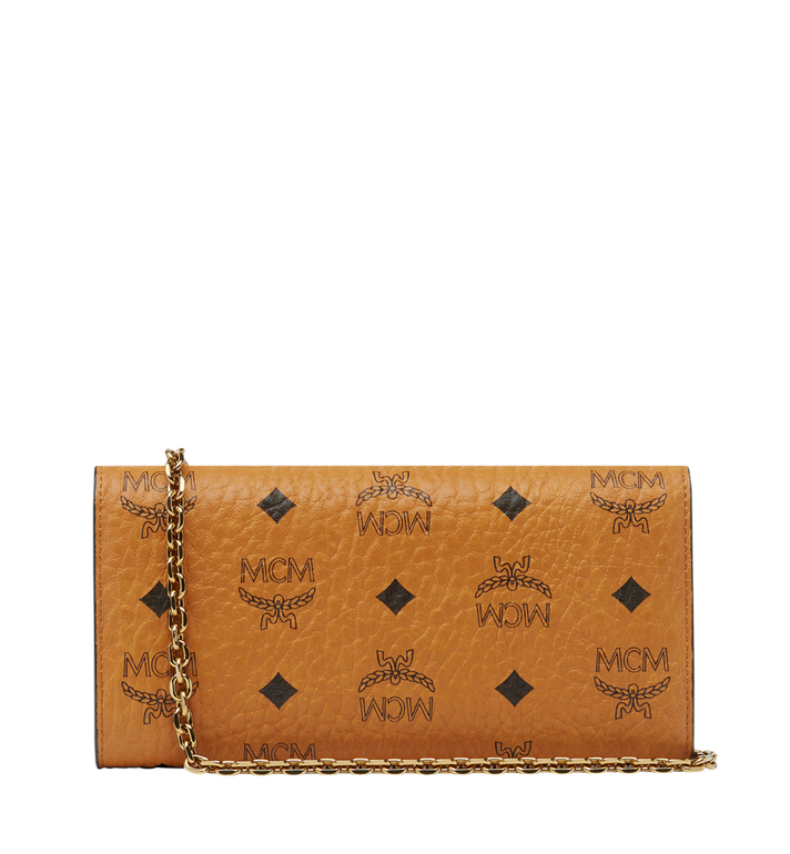 MCM Patricia Studded Crossbody Wallet in Visetos Cognac MYL8SPA30CO001 Alternate View 3