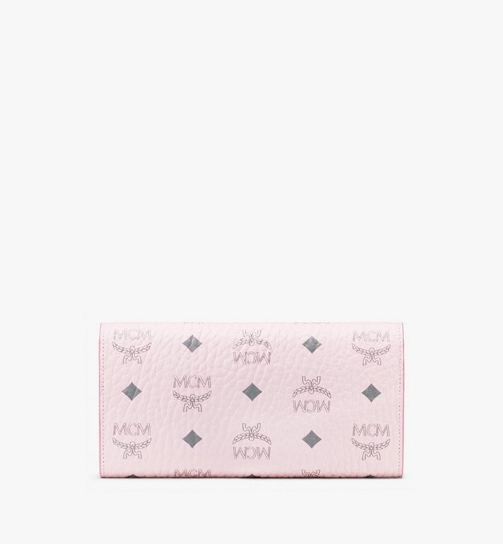 MCM Patricia Crossbody Wallet in Studded Visetos Pink MYL8SPA30QH001 Alternate View 2