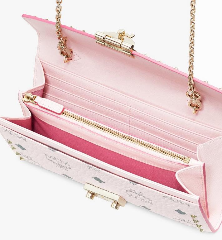 MCM Patricia Crossbody Wallet in Studded Visetos Pink MYL8SPA30QH001 Alternate View 3