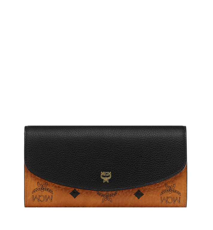 MCM Two Fold Wallet in Visetos Colorblock Leather MYL8SVI13BK001 AlternateView