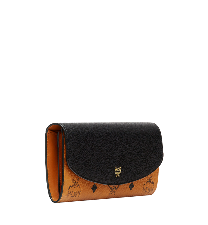 MCM Two Fold Wallet in Visetos Colorblock Leather MYL8SVI13BK001 AlternateView2