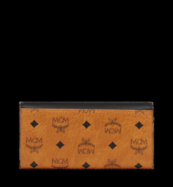 MCM Two Fold Wallet in Visetos Colorblock Leather MYL8SVI13BK001 AlternateView3