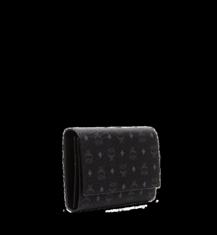 MCM Three Fold Wallet in Visetos Original Black MYL8SVI48BK001 Alternate View 2
