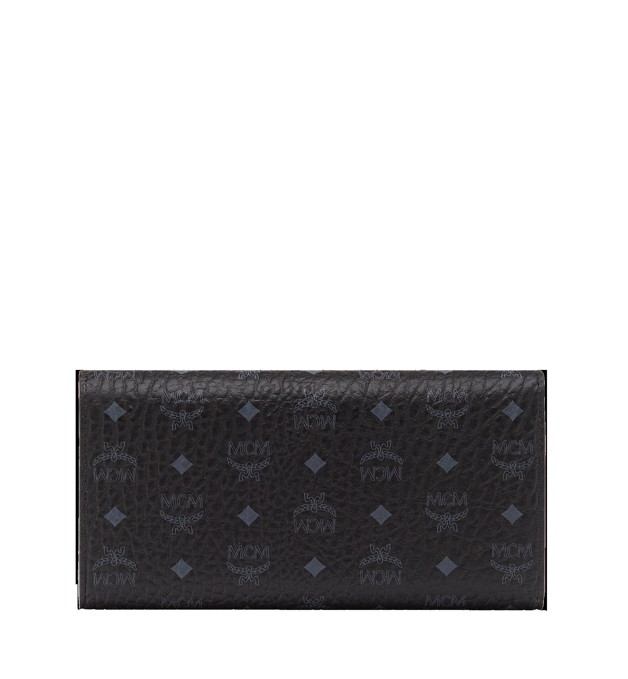 MCM Three Fold Wallet in Visetos Original Black MYL8SVI48BK001 Alternate View 3