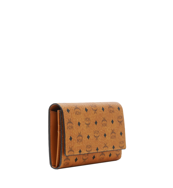 MCM Three Fold Wallet in Visetos Original Cognac MYL8SVI48CO001 Alternate View 2