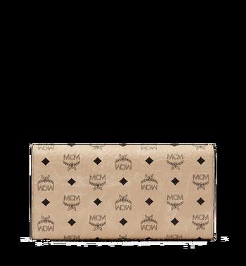MCM Three Fold Wallet in Visetos Original Beige MYL8SVI48IG001 Alternate View 3