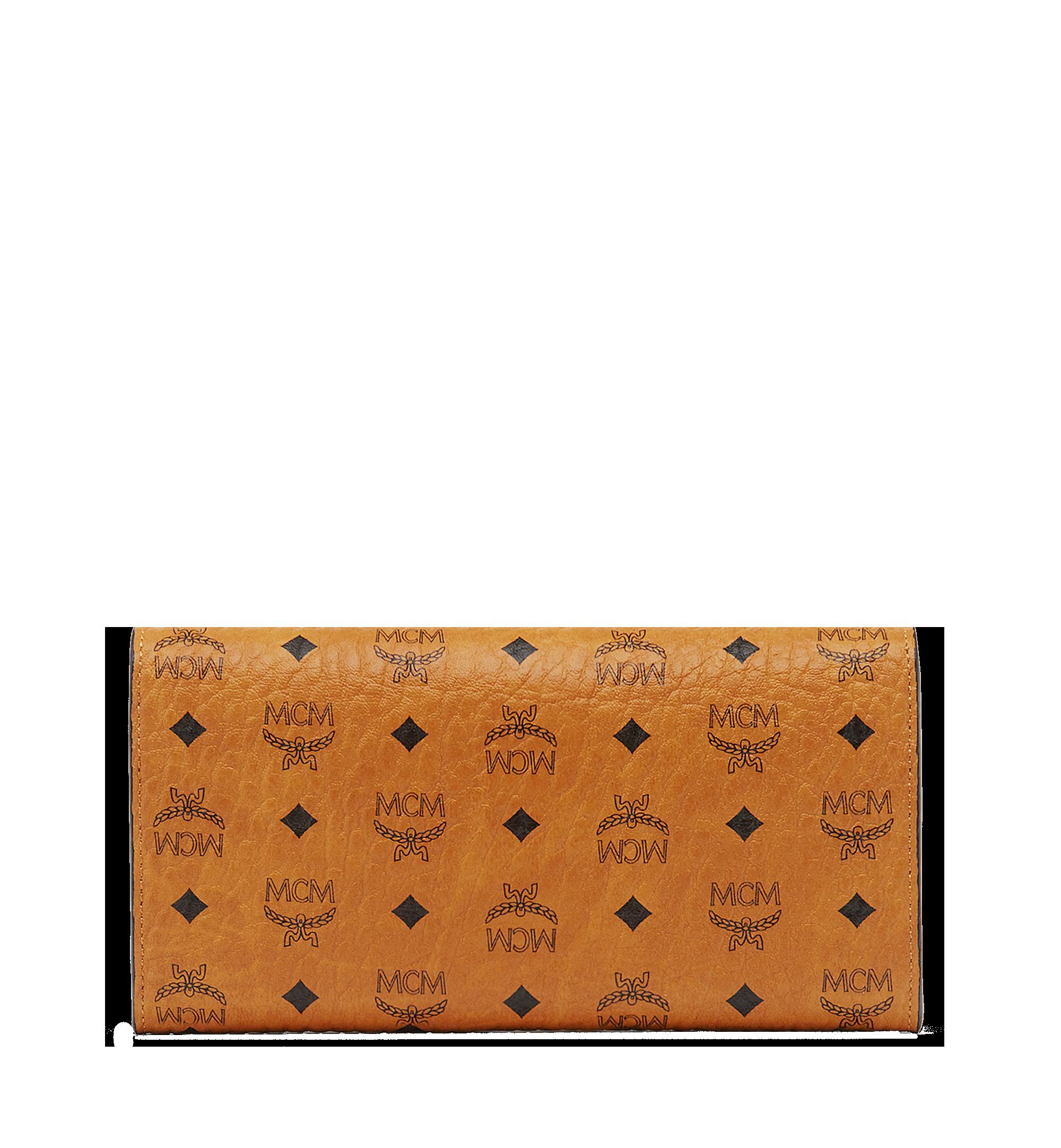 MCM Two Fold Wallet in Visetos Original Cognac MYL8SVI99CO001 Alternate View 3