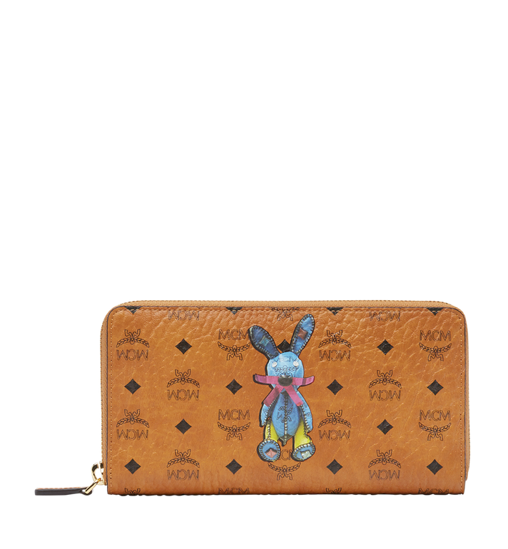 MCM Rabbit Zip Around Wallet in Visetos Alternate View