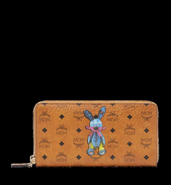 MCM Rabbit Zip Around Wallet in Visetos MYL8SXL31CO001 AlternateView