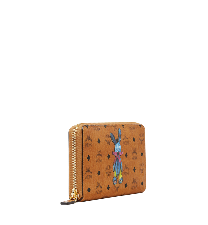 MCM Rabbit Zip Around Wallet in Visetos MYL8SXL31CO001 AlternateView2