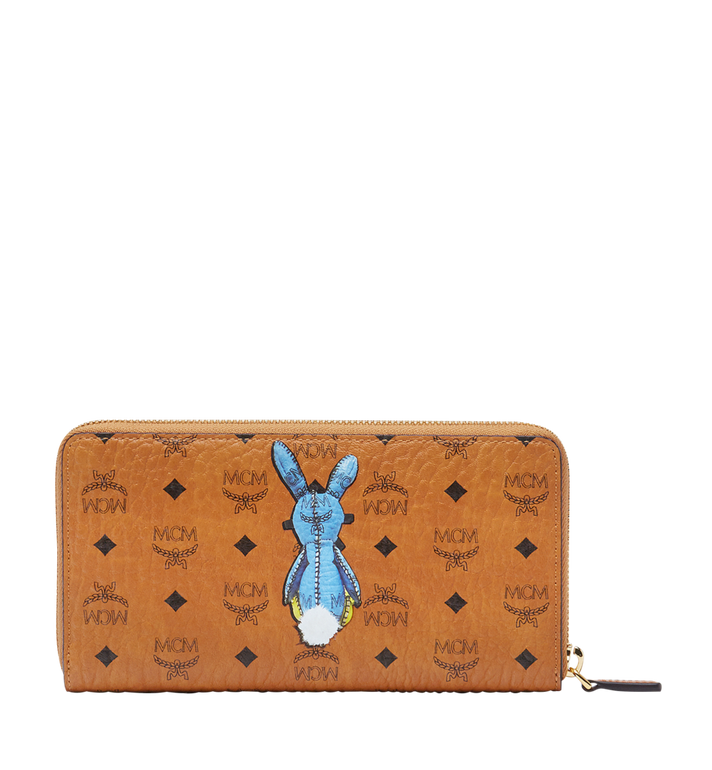 MCM Rabbit Zip Around Wallet in Visetos Alternate View 3
