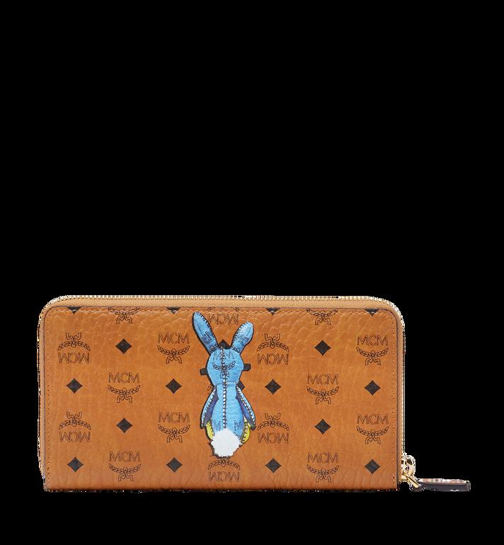 MCM Rabbit Zip Around Wallet in Visetos MYL8SXL31CO001 AlternateView3