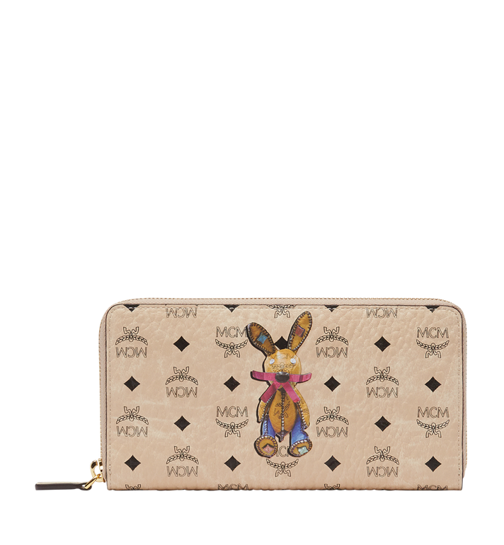 MCM Rabbit Zip Around Wallet in Visetos MYL8SXL31IG001 AlternateView