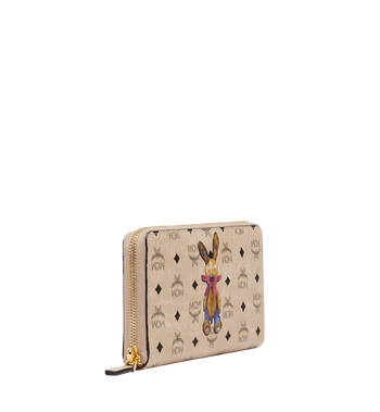 MCM Rabbit Zip Around Wallet in Visetos MYL8SXL31IG001 AlternateView2