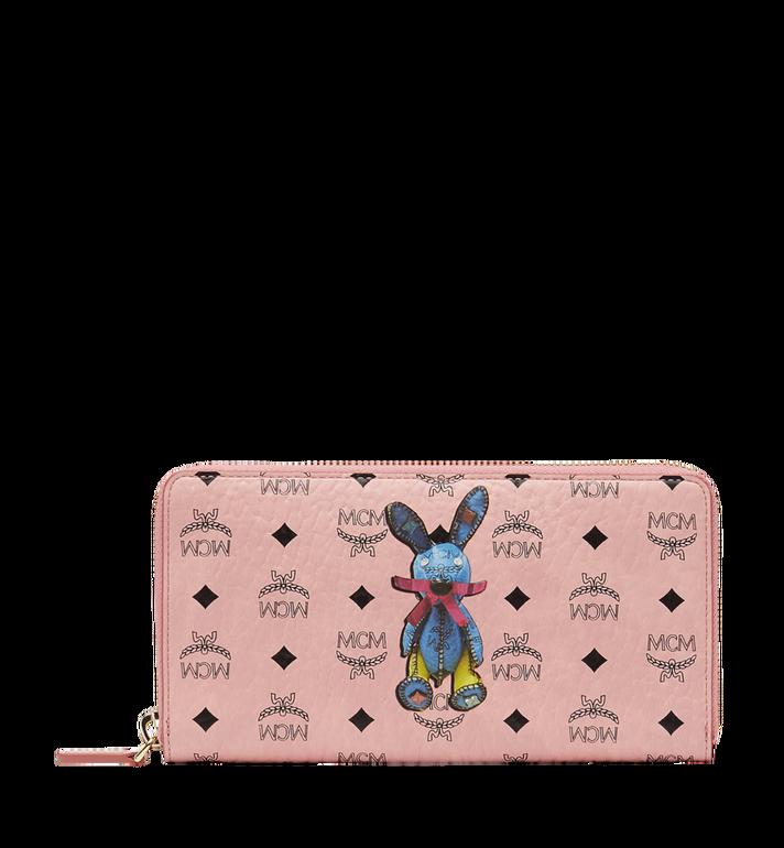 MCM Rabbit Zip Around Wristlet Wallet in Visetos MYL8SXL31PZ001 AlternateView