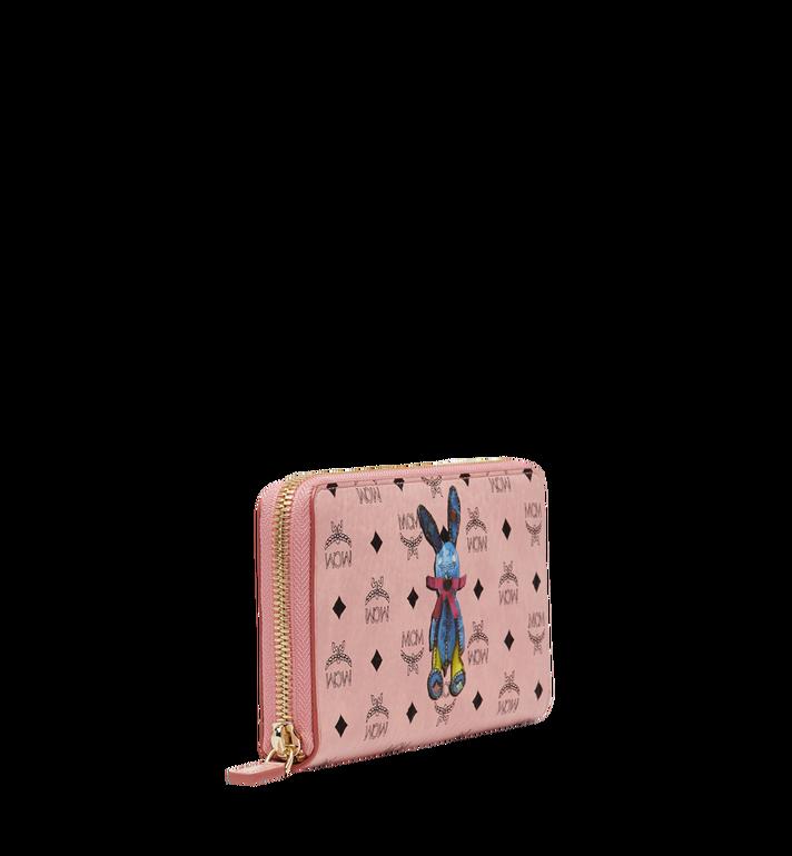 MCM Rabbit Zip Around Wristlet Wallet in Visetos MYL8SXL31PZ001 AlternateView2