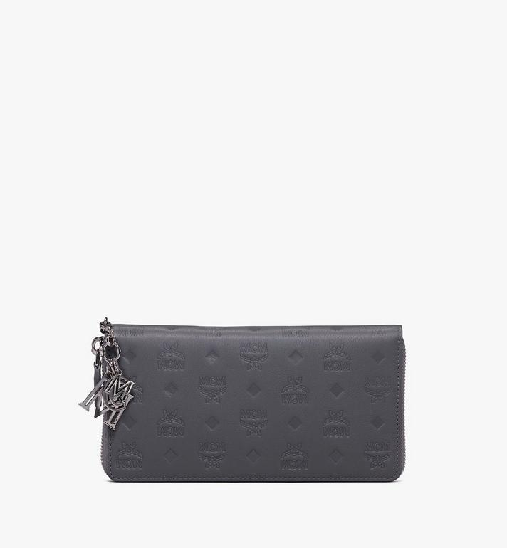 MCM Klara Zip Wallet in Monogram Leather Alternate View 1
