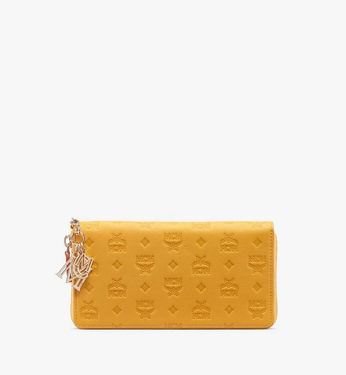 MCM Klara Zip Around Wallet in Monogram Leather Alternate View