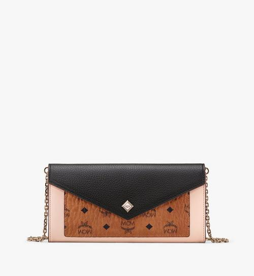 Love Letter Crossbody Wallet in Color Block Leather