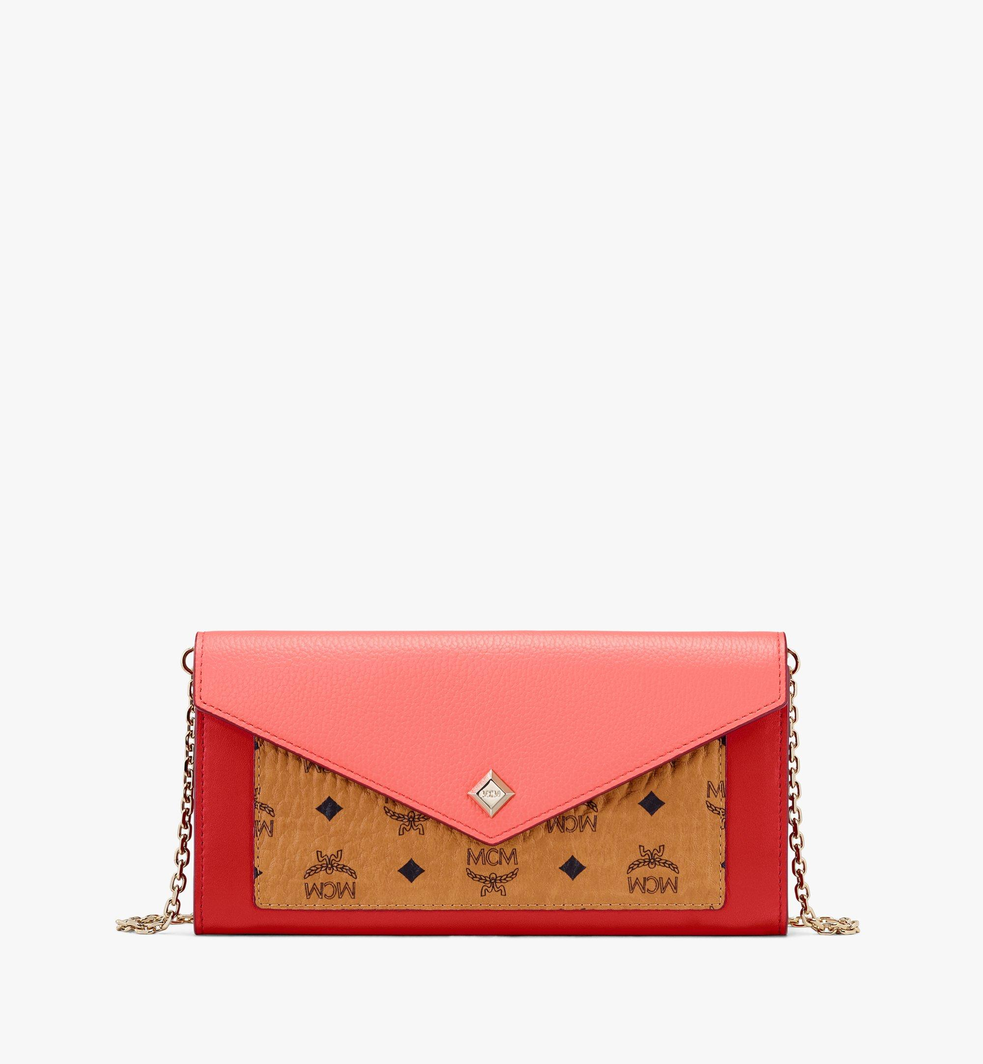 MCM Love Letter Crossbody Wallet in Color Block Leather Pink MYL9ALV01O3001 Alternate View 1