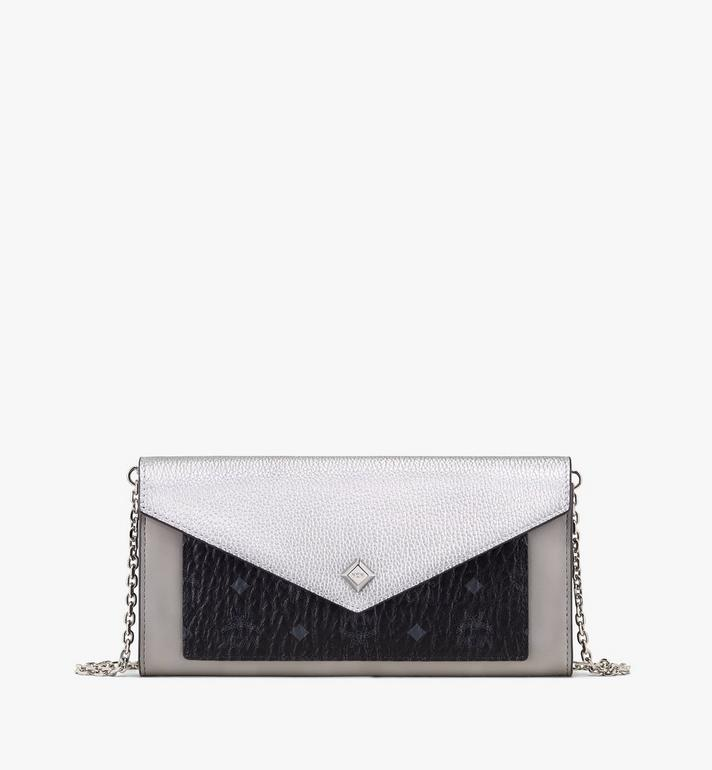MCM Love Letter Crossbody Wallet in Color Block Leather Alternate View