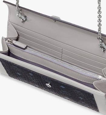MCM Love Letter Crossbody Wallet in Color Block Leather Silver MYL9ALV01SE001 Alternate View 3