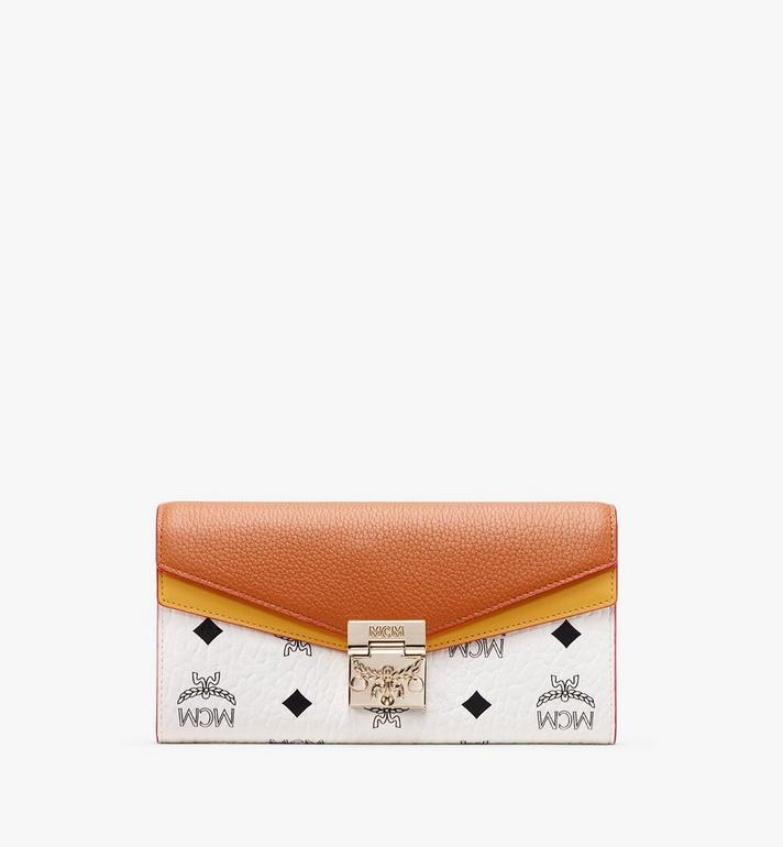 MCM Patricia Two-Fold Wallet in Colorblock Leather Alternate View