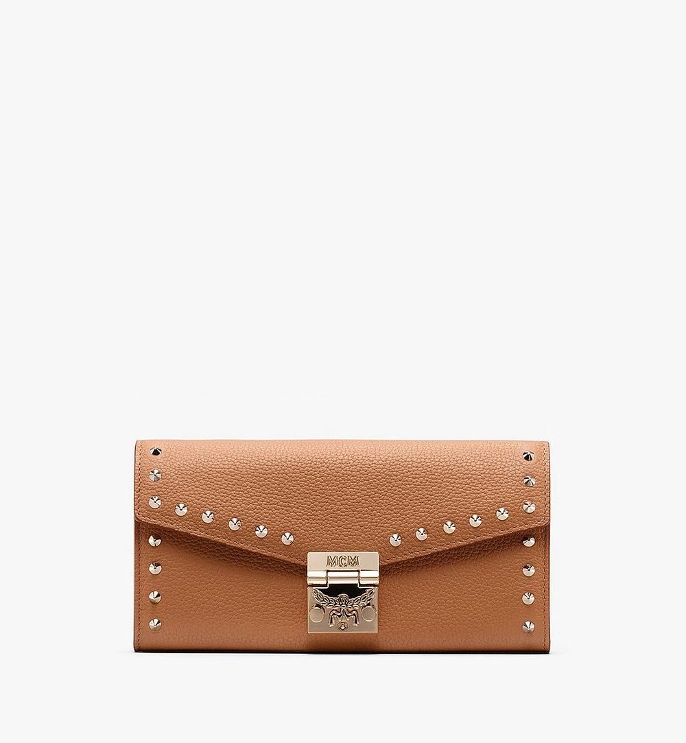 MCM Patricia Crossbody Wallet in Studded Park Ave Leather Beige MYL9APA40BC001 Alternate View 1
