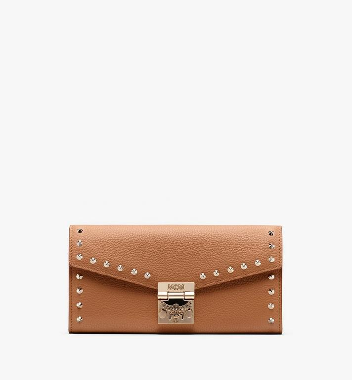 MCM Patricia Two-Fold Wallet in Studded Park Ave Leather Alternate View