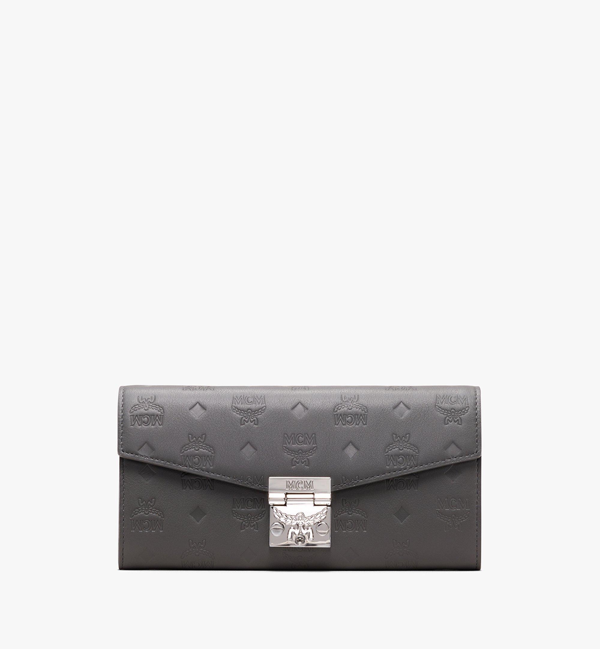 MCM Patricia Crossbody Wallet in Monogram Leather Grey MYL9APA55EC001 Alternate View 1