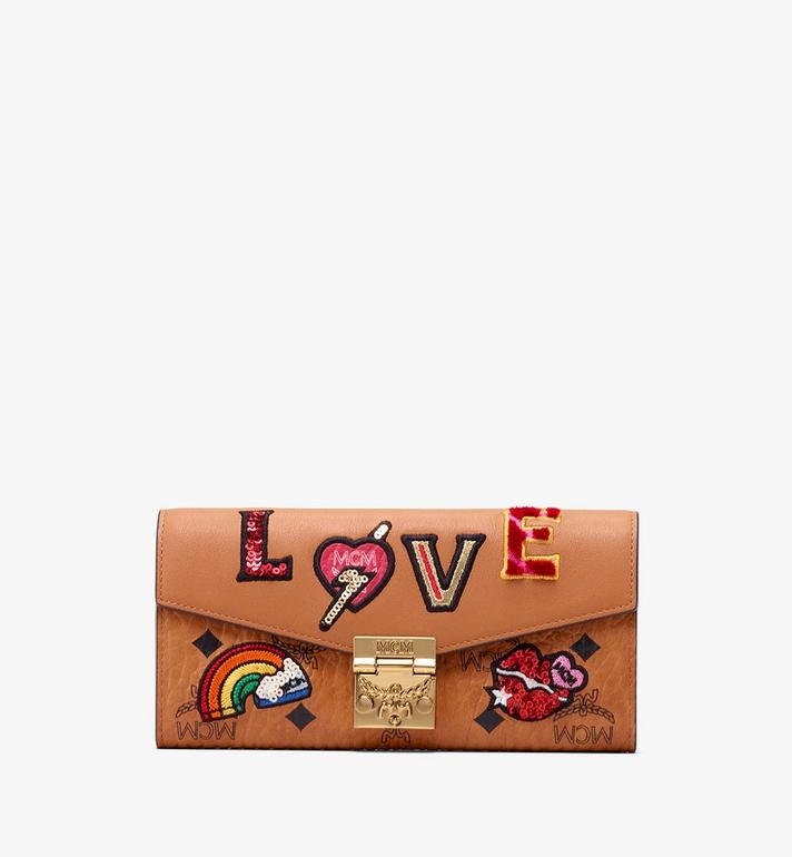 MCM Patricia Two-Fold Wallet in Love Patch Visetos Alternate View