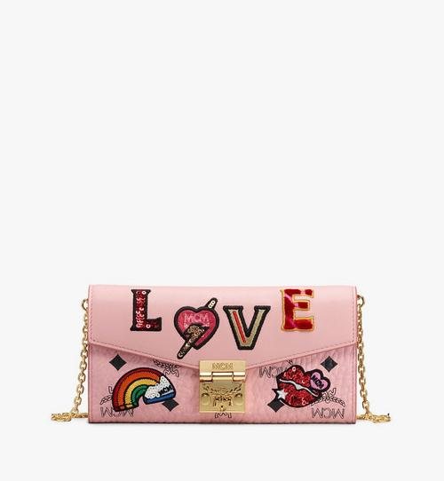 Patricia Crossbody Wallet in Love Patch Visetos